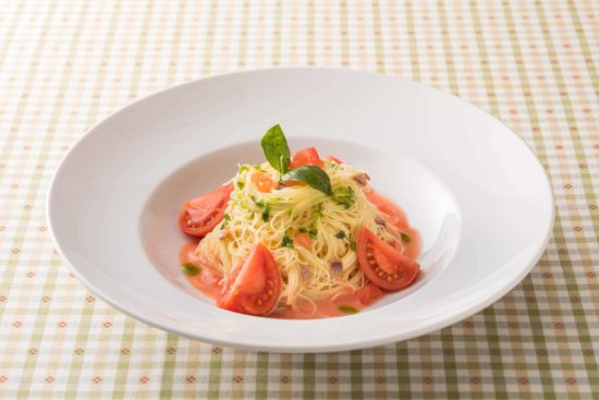フルーツトマトのカッペリーニ 夏のパスタ